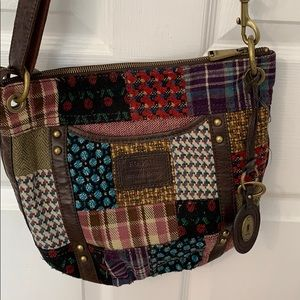 Fossil Cross body patchwork bad